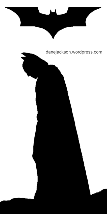 Batman Begins Pumpkin Stencil